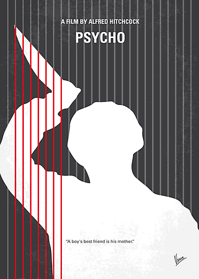 No185 My Psycho minimal movie poster by Chungkong