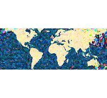 maps pointilism World Map 2 Photographic Print