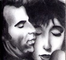 Roberto Benigni and Nicoletta Braschi by Angel Veselinov