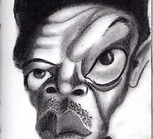Samuel L. Jackson by Angel Veselinov