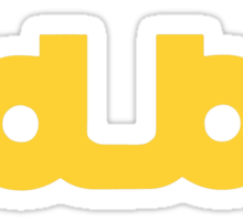 dub 3x Sticker