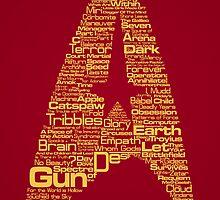 Star Trek The Original Series typography (red) by renduh