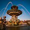 Fountain on the Place de la Concorde, Paris by Erik Schlogl