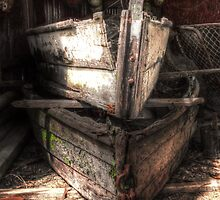 The old boat shed by Jan Pudney