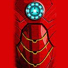 Steampunk Arc Reactor 2 With Red Armor - Apple iPhone 5, iphone 4 4s, iPhone 3Gs, iPod Touch 4g, iPad 2, iPad 3 case by www. pointsalestore.com