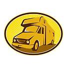 Camper Van Mobile Home Retro by retrovectors