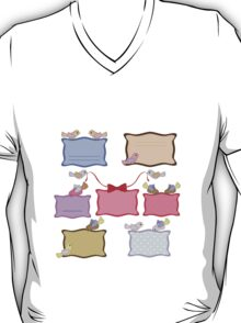 colorful banners with birds T-Shirt