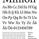 Typography Poster Minion Alphabet by Mattias Olsson