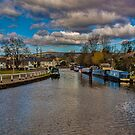 Leeds and Liverpool Canal at Bingley by Trevor Kersley
