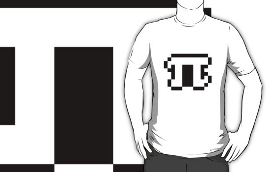 White Pixel Pi Shirt by simharry3