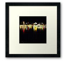 Lights On Ice Framed Print