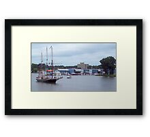 S/V Denis Sullivan - Departure Day Framed Print