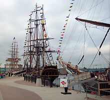 Bay City Tall Ship Celebration (2010) - East Bank - Departure Day by Francis LaLonde