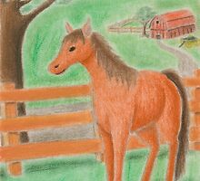 Horse on Farm by jkartlife