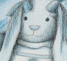 Blue Bunny Rabbit by jkartlife