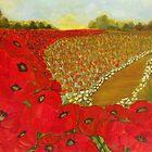 Wild Red Poppies by Yesi Casanova