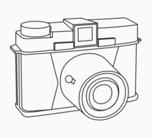 Camera T-shirt - Analog Diana camera - Small illustration by Mattias Olsson