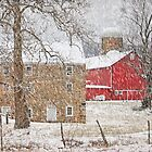 Februaury Snow At Warne&#x27;s Mill by Pat Abbott