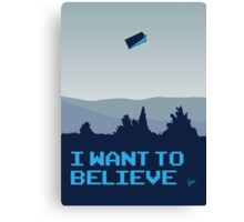 My I want to believe minimal poster- Tradis / Dr Who Canvas Print