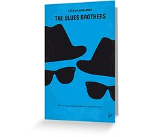 No012 My Blues brothers minimal movie poster Greeting Card