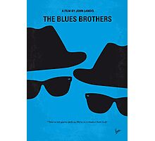 No012 My Blues brothers minimal movie poster Photographic Print