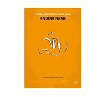 No054 My Finding Nemo minimal movie poster Art Print
