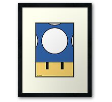 MY MINI MUSHROOM MARIO BROS MINIMAL POSTER Framed Print