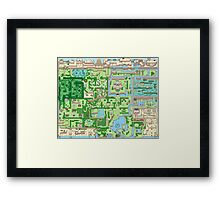 The map of all adventures Framed Print