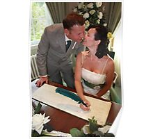 Beautiful Bride, Handsome groom the kiss Poster