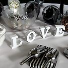 LOVE, table arrangement by thermosoflask