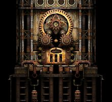 Infernal Steampunk Machine #3 iPad case by Steve Crompton