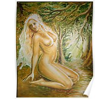 Nude woman in the forest Poster