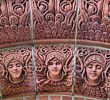 The Watts Mortuary Chapel -Brick Detail - HDR by Colin J Williams Photography