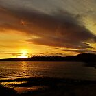 Setting sun at Dunalley, Tasmania, Australia by PC1134