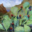 Chisos Mountains Prickly Pear Cactus by Kent Brewer