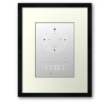 Time & date related Japanese vocabulary Framed Print