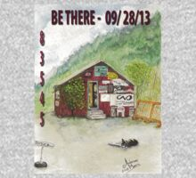 Red Shed Fly Shop B There Annual T Shirt by Anderson  Moore