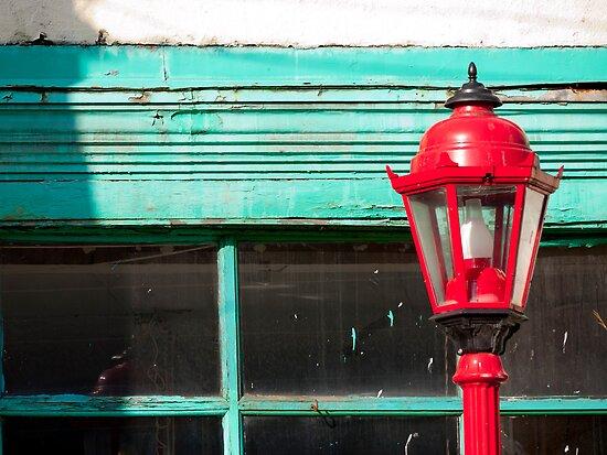 Red Street Lamp by Rae Tucker