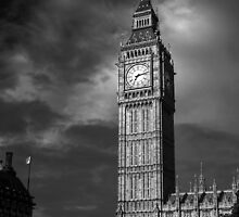 Big Ben 4 B&W by photonista