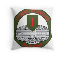 1st Infantry CAB Throw Pillow