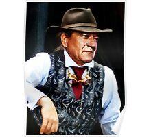 John Wayne in a silk waistcoat Poster