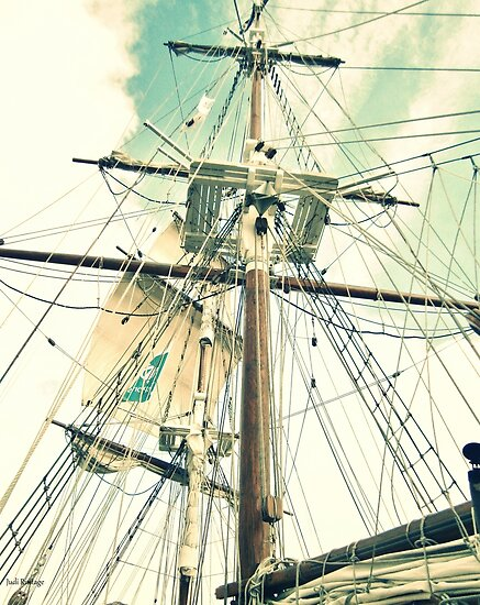 Through Her Masts and Spars by Judi Rustage