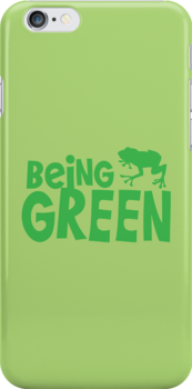 BEING GREEN frog  by jazzydevil