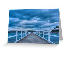 Along the jetty Greeting Card