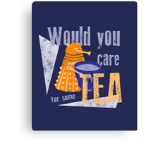 Dalek with Tea Canvas Print