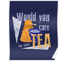 Dalek with Tea Poster