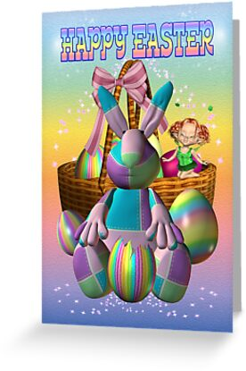 Happy Easter Bunny .. card by LoneAngel