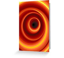Hypnotic Virtual Orange Vertigo Hole Greeting Card