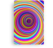 Hypnotic Psychedelic Vertigo Hole Canvas Print