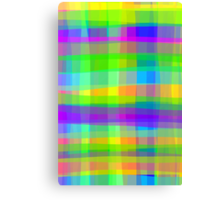 Psychedelic Squares Texture Pattern Canvas Print